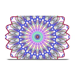 Prismatic Line Star Flower Rainbow Plate Mats by Alisyart