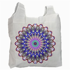 Prismatic Line Star Flower Rainbow Recycle Bag (two Side)  by Alisyart