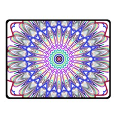 Prismatic Line Star Flower Rainbow Fleece Blanket (small) by Alisyart