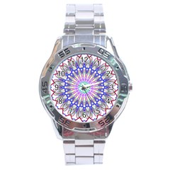 Prismatic Line Star Flower Rainbow Stainless Steel Analogue Watch