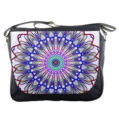 Prismatic Line Star Flower Rainbow Messenger Bags by Alisyart