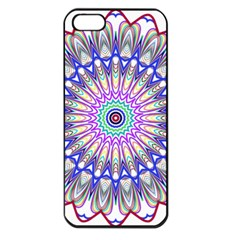 Prismatic Line Star Flower Rainbow Apple Iphone 5 Seamless Case (black)