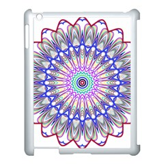 Prismatic Line Star Flower Rainbow Apple Ipad 3/4 Case (white) by Alisyart