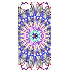 Prismatic Line Star Flower Rainbow Apple Iphone 5 Hardshell Case With Stand by Alisyart