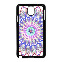 Prismatic Line Star Flower Rainbow Samsung Galaxy Note 3 Neo Hardshell Case (black) by Alisyart