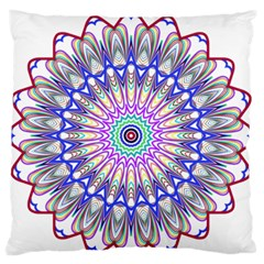 Prismatic Line Star Flower Rainbow Large Flano Cushion Case (one Side) by Alisyart