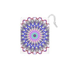 Prismatic Line Star Flower Rainbow Drawstring Pouches (xs)