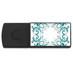 Vintage Floral Style Frame Usb Flash Drive Rectangular (4 Gb) by Alisyart
