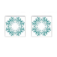 Vintage Floral Style Frame Cufflinks (square) by Alisyart