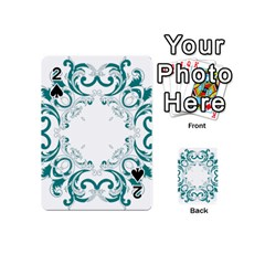 Vintage Floral Style Frame Playing Cards 54 (mini)