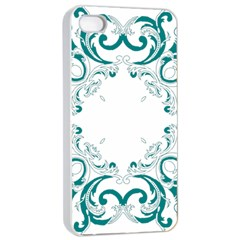 Vintage Floral Style Frame Apple Iphone 4/4s Seamless Case (white) by Alisyart