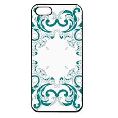 Vintage Floral Style Frame Apple Iphone 5 Seamless Case (black)