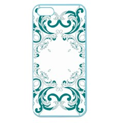 Vintage Floral Style Frame Apple Seamless Iphone 5 Case (color) by Alisyart