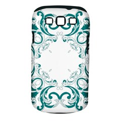 Vintage Floral Style Frame Samsung Galaxy S Iii Classic Hardshell Case (pc+silicone)