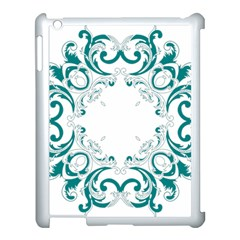 Vintage Floral Style Frame Apple Ipad 3/4 Case (white)