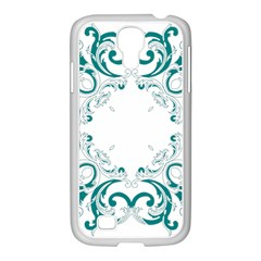 Vintage Floral Style Frame Samsung Galaxy S4 I9500/ I9505 Case (white) by Alisyart