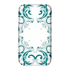 Vintage Floral Style Frame Samsung Galaxy S4 Classic Hardshell Case (pc+silicone) by Alisyart