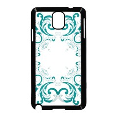 Vintage Floral Style Frame Samsung Galaxy Note 3 Neo Hardshell Case (black)