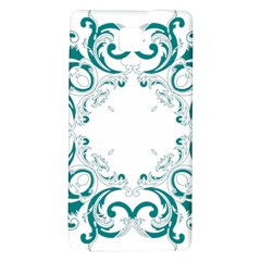 Vintage Floral Style Frame Galaxy Note 4 Back Case by Alisyart