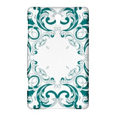 Vintage Floral Style Frame Samsung Galaxy Tab S (8 4 ) Hardshell Case  by Alisyart