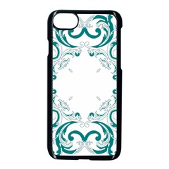 Vintage Floral Style Frame Apple Iphone 7 Seamless Case (black)