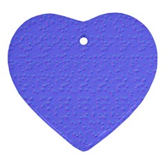 Ripples Blue Space Ornament (heart) by Alisyart
