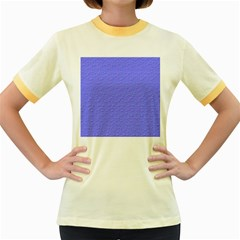 Ripples Blue Space Women s Fitted Ringer T Shirts