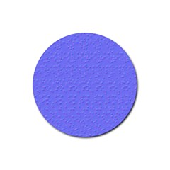 Ripples Blue Space Rubber Coaster (round)