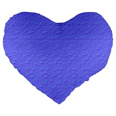 Ripples Blue Space Large 19  Premium Heart Shape Cushions by Alisyart
