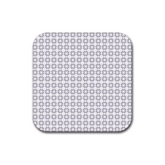 Violence Head On King Purple White Flower Rubber Square Coaster (4 Pack)  by Alisyart