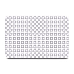 Violence Head On King Purple White Flower Plate Mats