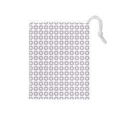 Violence Head On King Purple White Flower Drawstring Pouches (medium)