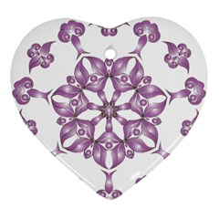 Frame Flower Star Purple Ornament (heart)