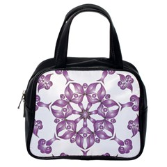 Frame Flower Star Purple Classic Handbags (one Side) by Alisyart