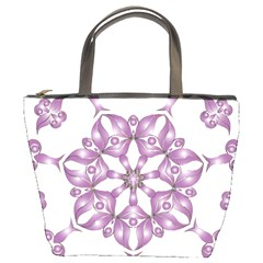Frame Flower Star Purple Bucket Bags by Alisyart
