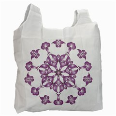 Frame Flower Star Purple Recycle Bag (one Side) by Alisyart