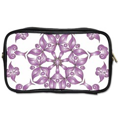 Frame Flower Star Purple Toiletries Bags by Alisyart