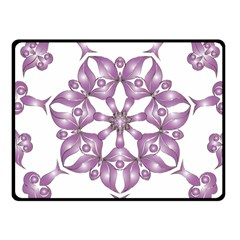 Frame Flower Star Purple Fleece Blanket (small) by Alisyart