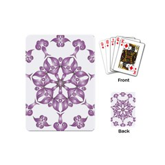 Frame Flower Star Purple Playing Cards (mini)  by Alisyart