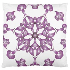 Frame Flower Star Purple Large Cushion Case (two Sides)