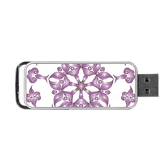 Frame Flower Star Purple Portable Usb Flash (two Sides) by Alisyart