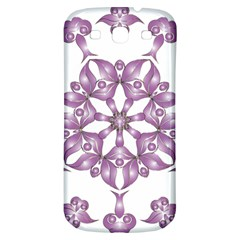 Frame Flower Star Purple Samsung Galaxy S3 S Iii Classic Hardshell Back Case by Alisyart