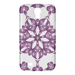 Frame Flower Star Purple Samsung Galaxy Mega 6 3  I9200 Hardshell Case by Alisyart