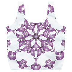 Frame Flower Star Purple Full Print Recycle Bags (l)  by Alisyart