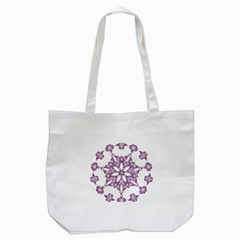 Frame Flower Star Purple Tote Bag (white) by Alisyart