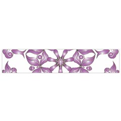 Frame Flower Star Purple Flano Scarf (small)