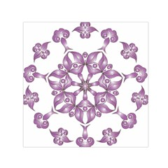 Frame Flower Star Purple Small Satin Scarf (square)