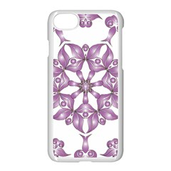 Frame Flower Star Purple Apple Iphone 7 Seamless Case (white) by Alisyart
