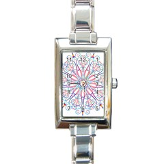 Frame Star Rainbow Love Heart Gold Purple Blue Rectangle Italian Charm Watch
