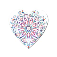 Frame Star Rainbow Love Heart Gold Purple Blue Heart Magnet by Alisyart